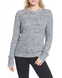 Ella Moss   Melange Open Back Sweater   Lyst