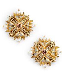 Badgley Mischka - Stud Earrings - Lyst