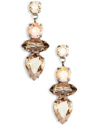 Sorrelli - Narcissus Crystal Drop Earrings - Lyst