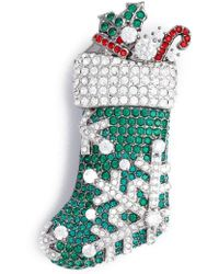 Nadri - Jolly Stocking Pin - Lyst