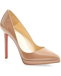 c74158c0a7cd Christian Louboutin Pigalle Plato Leather Pumps in Black - Lyst