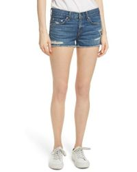 Rag & Bone - Cutoff Denim Shorts - Lyst