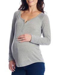 Everly Grey - Amelia Maternity/nursing Henley - Lyst