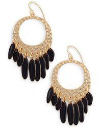 Diane von Furstenberg - Tassel Hoop Earrings - Lyst