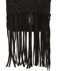 Saint Laurent - Fringed Leather Clutch - - Lyst