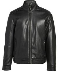 Cole Haan | Faux Leather Jacket | Lyst