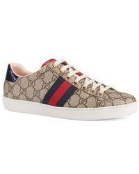 Gucci - New Ace Gg Supreme Sneaker - Lyst
