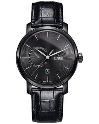 Rado - Diamaster Leather Strap Watch - Lyst