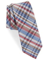 Nordstrom - 1901 Donelly Plaid Linen & Silk Tie - Lyst
