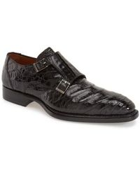 Mezlan - 'prague' Genuine Crocodile Double Monk Strap Shoe - Lyst