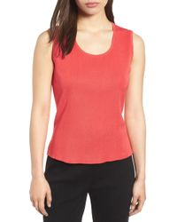 Ming Wang - Scoop Neck Knit Tank - Lyst