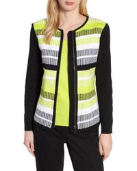 Ming Wang - Long Sleeve Stripe Jacket - Lyst