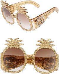 Gucci - 53mm Pineapple Sunglasses - - Lyst