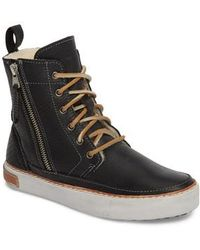 Blackstone | 'cw96' Genuine Shearling Lined Sneaker Boot | Lyst