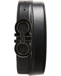 Ferragamo - Double Gancio Leather Belt - Lyst