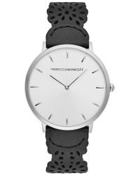Rebecca Minkoff - Major Etched Leather Strap Watch - Lyst