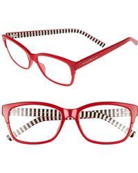 d2cfb13fc97 Lyst - Kate Spade  zabrina  52mm Reading Glassesa - Transparent Pink ...