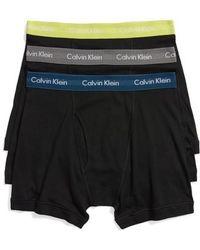 CALVIN KLEIN 205W39NYC - 3-pack Boxer Briefs, Black - Lyst