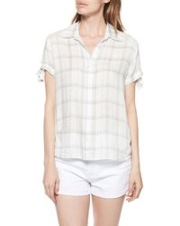 PAIGE - Avery Plaid Shirt - Lyst