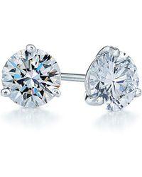 Kwiat - 0.50ct Tw Diamond & Platinum Stud Earrings - Lyst