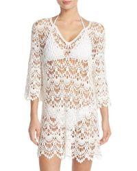 Surf Gypsy   Crochet Cotton Mini Dress    Lyst