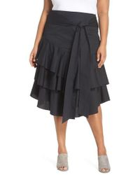 Vince Camuto | Tiered Ruffle Belted Skirt | Lyst