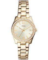 Fossil - Scarlette Crystal Bracelet Watch - Lyst