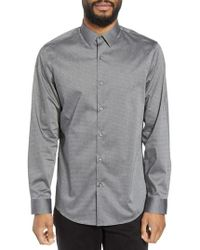 Calibrate - Trim Fit Dot Sport Shirt - Lyst