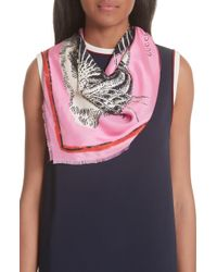 Gucci - Tiger Faces Scarf - Lyst