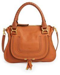Lyst - Chloé Marcie Braided Suede Calfskin Shoulder Bag in Brown dd90a38c06