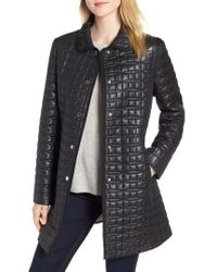 Kate Spade - Bow Quilted Coat - Lyst