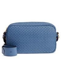 Cole Haan - Zoe Rfid Woven Leather Camera Bag - Lyst