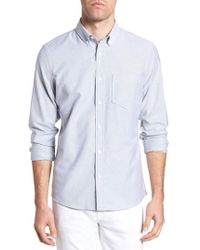 Nordstrom - 1901 Trim Fit Washed Oxford Shirt - Lyst