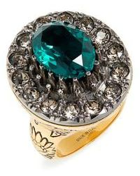 Alexander McQueen - Swarovski Crystal Cocktail Ring - Lyst