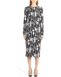 Dolce & Gabbana - Silerware Sheath Dress - Lyst