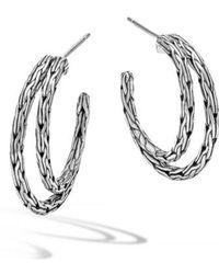John Hardy - 'classic Chain' Double Hoop Earrings - Lyst