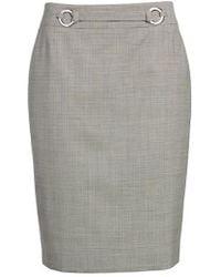 BOSS - Vavilla Stretch Wool Suit Skirt - Lyst