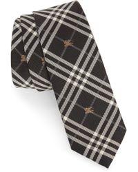 Burberry - Stanfield Microcheck Silk Tie - Lyst
