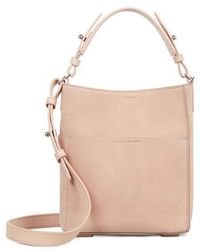 AllSaints | Mini Mast Leather North/south Tote | Lyst