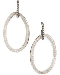 Armenta - Old World Midnight Frontal Hoop Diamond Earrings - Lyst