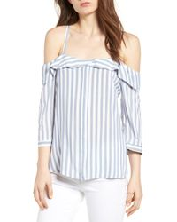 BISHOP AND YOUNG - Bishop + Young Kelly Stripe Off The Shoulder Top - Lyst
