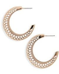 TOPSHOP - Cutout Hoop Earrings - Lyst