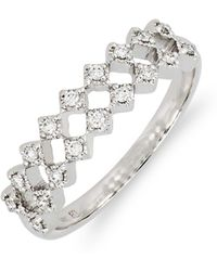 Bony Levy - Mila Double Row Diamond Ring (nordstrom Exclusive) - Lyst
