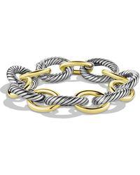 David Yurman - Oval Extra-large Link Bracelet With Gold - Lyst