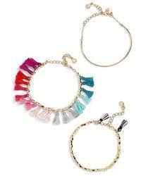 BaubleBar - Dionne 3-pack Bracelets - Lyst