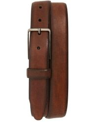 Johnston & Murphy - Mini Embossed Leather Belt - Lyst