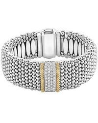 Lagos - Diamond Lux Pave Station Rope Bracelet - Lyst