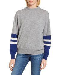 Velvet By Graham & Spencer - Colorblock Cashmere Sweater - Lyst