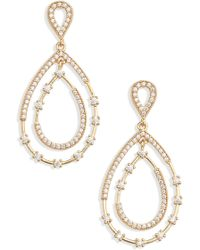 Nordstrom - Crystal Teardrop Earrings - Lyst