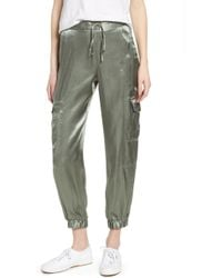 1.STATE - Soft Satin Cargo Jogger Pants - Lyst